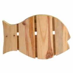 Wooden fish placemat - pot holder