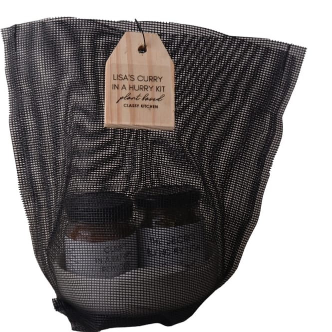 Classy Kitchen Lisa's curry in a hurry kit in mesh black bag 1
