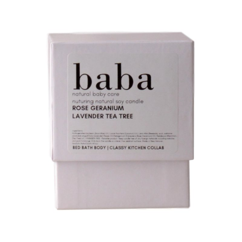 baba nurturing natural soy candle in white gift box 1